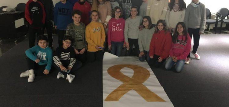 Los alumnos de 6º EP y 1º ESO colaboran con ASPANOB en el Día Internacional del Niño con Cáncer
