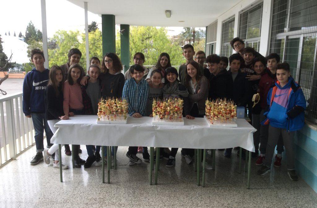 Els alumnes de 1r C d'ESO organitzen un berenar saludable