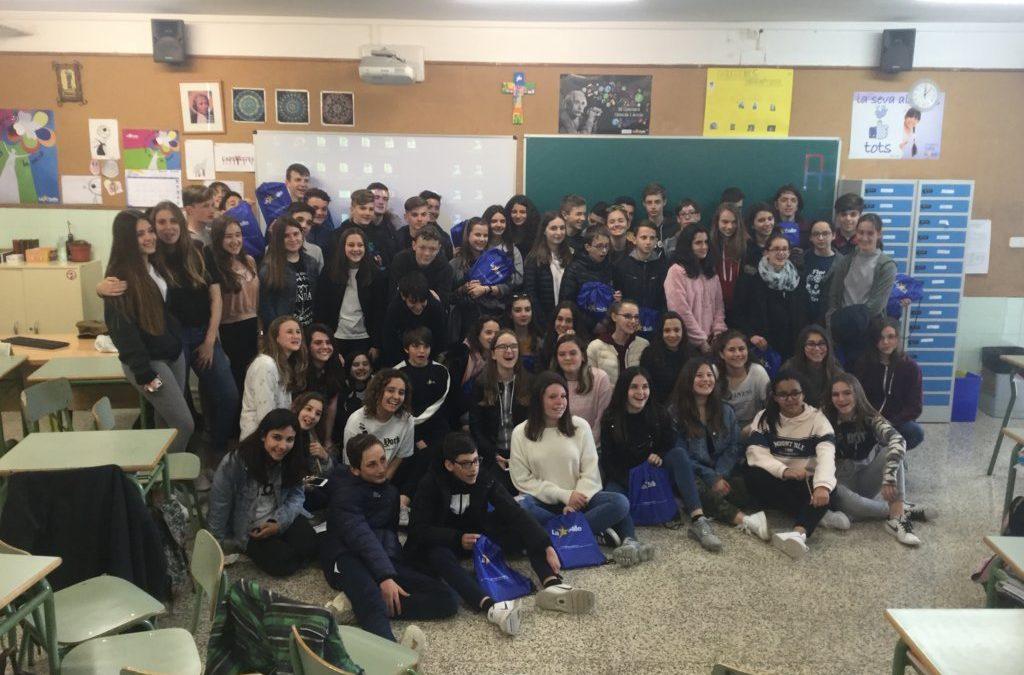 Un grupo de alumnos de La Salle Pibrac (Francia) visitan nuestro centro