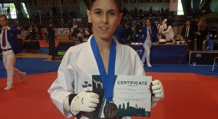 Nuestro alumno Felipe Prieto, medalla de plata en el Open Internacional de Taekwondo de Berlín