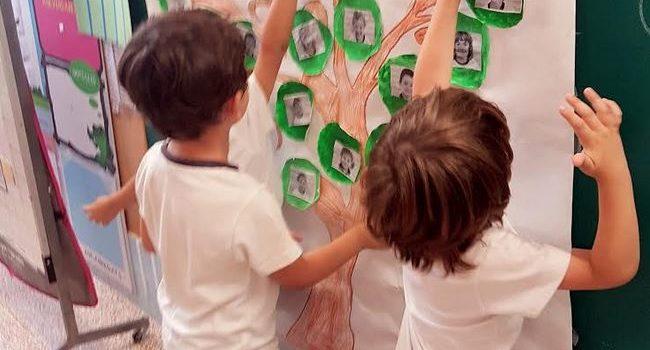 Els alumnes de 2n i 3r d'E.I treballen el lema d'aquest curs