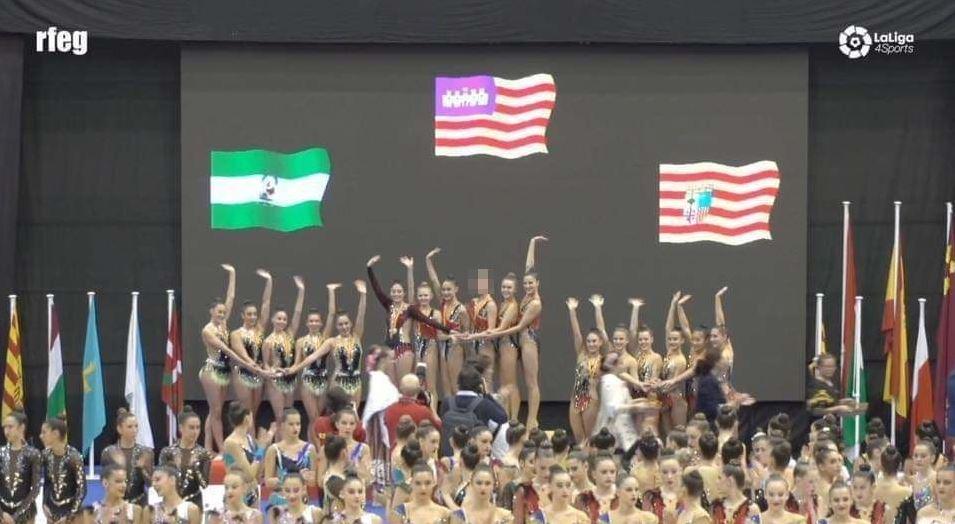 Destacada participació d'alumnes de La Salle Palma en el campionat d'Espanya base de gimnàstica rítmica