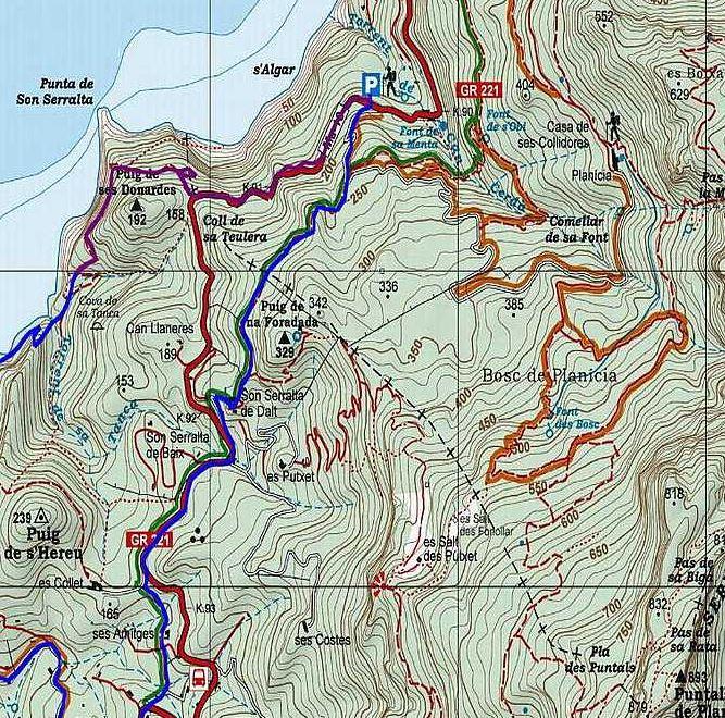 Quarta sortida grup senderisme: Font de sa Menta-Font de s'Obi-Cases de Planícia. Diumenge 27 de gener